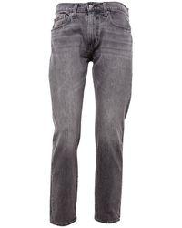 Levi's 502 Straight Fit Jeans Vervaagd Grijs Denim