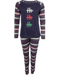 Brave Soul Christmas Haven Pyjama's Marineblauw