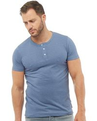 French Connection - Tg Dad T-shirt Light Blue Melange - Lyst