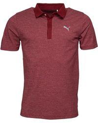 PUMA Moving Drycell Day Polo Gemeleerd Bordeauxrood