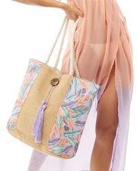 South Beach Floral Tote Bag Multi - Multicolour