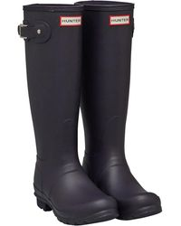HUNTER Original Tall Matte Gummistiefel Dunkellila