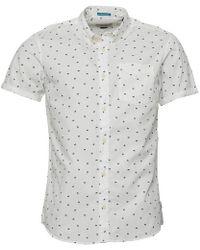Jack & Jones - Cambridge Short Sleeve One Pocket Shirt Cloud Dancer - Lyst