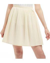 Fred Perry Tennis Skirt Ecru - Natural