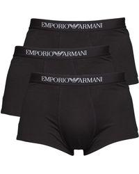 Emporio Armani Drie Pack Boxershort Zwart