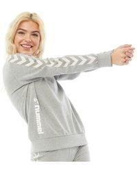 Hummel Classic Logo Oversized Sweatshirt Grey