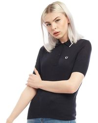 Fred Perry - Knitted Polo Navy - Lyst