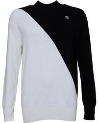adidas Originals - X Hyke Mock Neck Sweat Black/white - Lyst