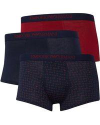 Emporio Armani Trunks Boxershort Rood