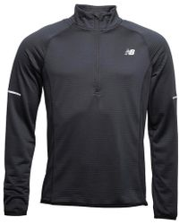 New Balance Heat Thermal Reflective 1/2 Zip Running Top Black