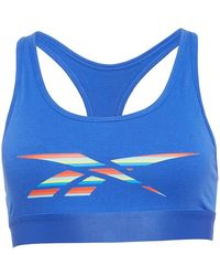 Reebok Desma Cotton Crop Top Court Blue