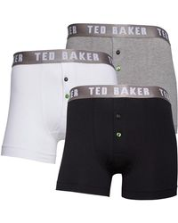 Ted Baker Neilio Button Fly Boxershorts Schwarz