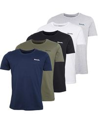 Bench Oliver Five Pack Lounge T-shirts Black/white/grey/navy/khaki - Blue