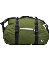 Fred Perry Roll Top Barrel Bag Olive 1964 - Green