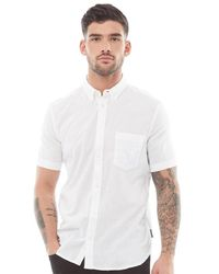 French Connection Linen Short Sleeve Shirt White