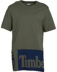 Timberland - Large Logo Longline T-shirt Grape Leaf - Lyst
