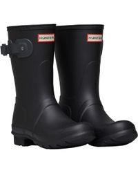 HUNTER Original Short Wellington Boots Black/dark Slate