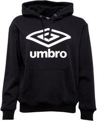 Umbro Active Style Large Logo Hoodie Black/white