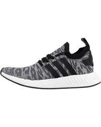 adidas Originals - Nmd_r2 Primeknit Trainers Grey/core Black/footwear White - Lyst