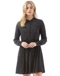ONLY - Nova Patterned Shirt Dress Black/graphic Party - Lyst