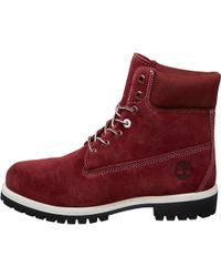 Timberland - Icon Suede 6 Inch Premium Boots Zinfandel - Lyst
