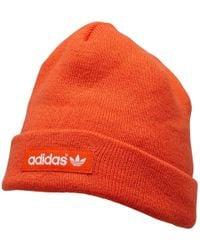 7790fd0fe30 adidas Originals - Logo Beanie Collegiate Orange collegiate Orange white -  Lyst