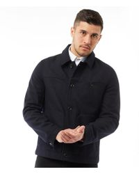af873fd57 Ted Baker - Huey Wool Jacket With Patch Pockets Navy - Lyst