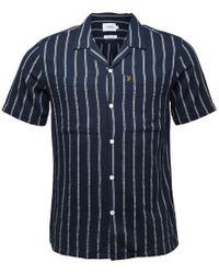 Farah - Robbins Casual Short Sleeve Shirt True Navy - Lyst