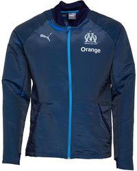 PUMA Olympique Marseille Pro Trainingstop Petrol Blauw