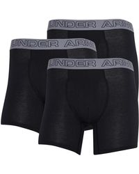 Under Armour Charged Cotton Stretch 6 Inch Boxerjock Boxershorts in lose Passform Schwarz