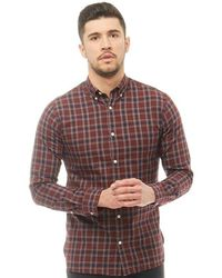 Jack & Jones - Theo Long Sleeve Shirt Navy Blazer - Lyst