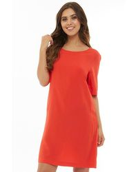 ONLY - Nova T-shirt Dress Flame Scarlet - Lyst