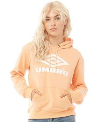 Umbro Projects Classic Over The Head Hoodie Apricot/white - Orange