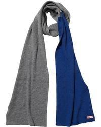 HUNTER Original Moustache Merino Wool Scarf Slate/deep Cobalt - Grey