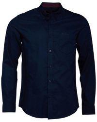 Ben Sherman Long Sleeve Oxford Shirt Navy - Blue