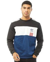 adidas Originals Id96 Crew Sweatshirt Mystery Blue/white