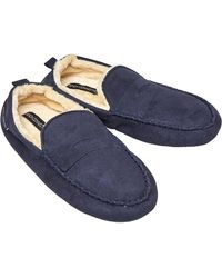 French Connection Moccasin 3 Slippers Marine - Blue