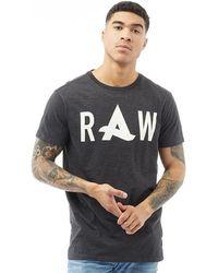 G-Star RAW - Afrojack Solid Long T-shirt Black - Lyst