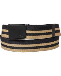 Fred Perry Bold Tipped Webbing Belt Black/champagne