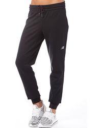 New Balance Accelerate Tech Poly Fleece Cuffed Trousers Black