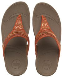 Fitflop - Aztek Chada Slide Sandals Ultra Orange - Lyst