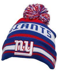 KTZ NFL New York Giants Streifen Beanie Mütze Blau