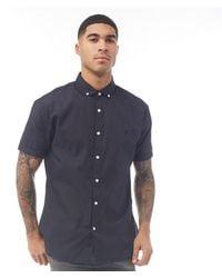 883 Police Factor Short Sleeve Shirt Navy - Blue
