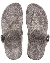 Fitflop - Superjelly Snake Sandals Black/white - Lyst