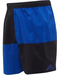 adidas Colourblock Swim Shorts Black/royal Blue
