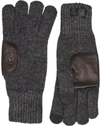 UGG Knit Gloves With Patch Charcoal - Grey