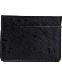Fred Perry Saffiano Card Holder Black