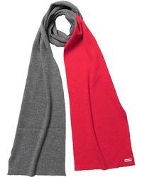Hunter | Original Merino Wool Scarf Slate/bright Coral | Lyst