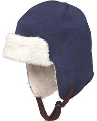 Converse - Shearling Lined Trapper Hat Poseidon - Lyst