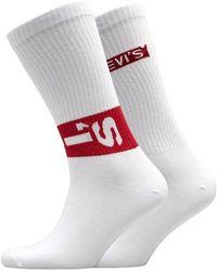 Levi's 168 Series Lazy Tab Zwei Pack Socken Weiß